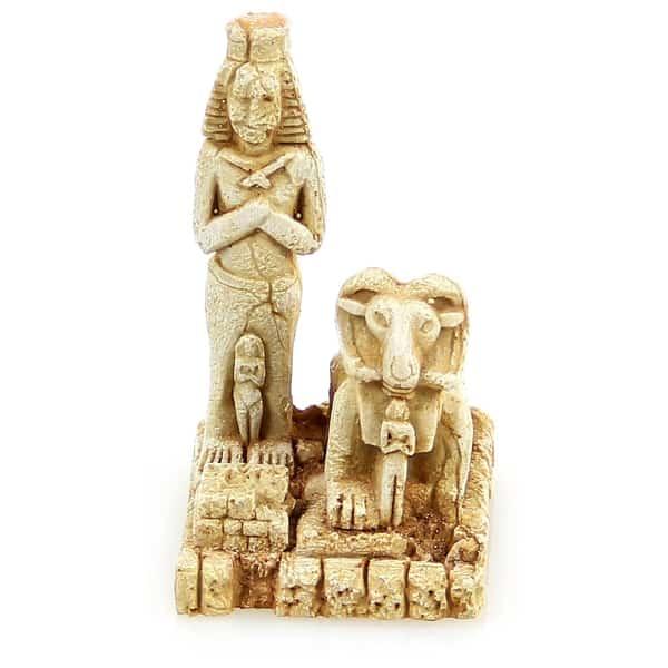 aquarium deko aegyptische statue