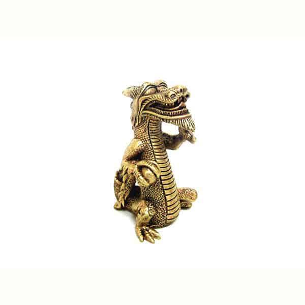 aquarium deko drachen gold 1