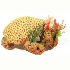 aquarium deko korallenriff gelb