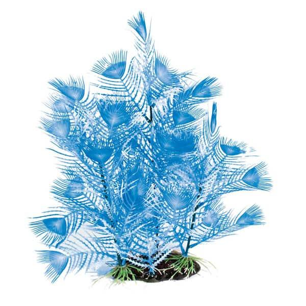 aquarium pflanzen kunstoff blau