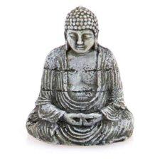 buddha statue deko silbern
