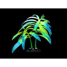 kunststoff pflanzen aquarium fluo tree blau gelb